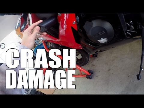 R6 Damage Report - Motorcycle Crash