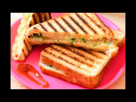 White sauce cheese sandwich by DIY Recipes   Grilled sandwich   Cheesy & creamy veg sandwich recipe