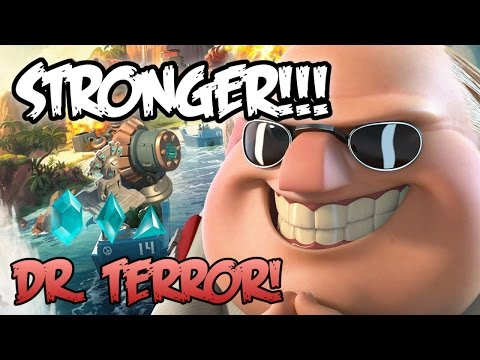 Boom Beach - NEW UPDATE DR TERROR! | With Shock Launchers and Ice Statues!