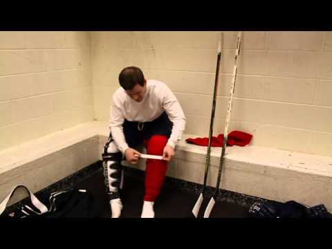 How to Put on Hockey Shin Guards
