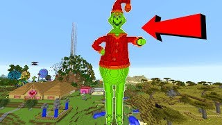 MEGA GRINCH TAKES OVER MINECRAFT!!!
