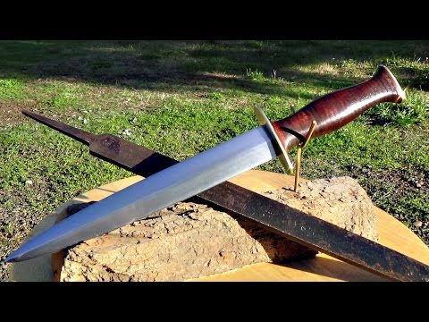 How To Make a Fighting Dagger Out of an Old Steel File