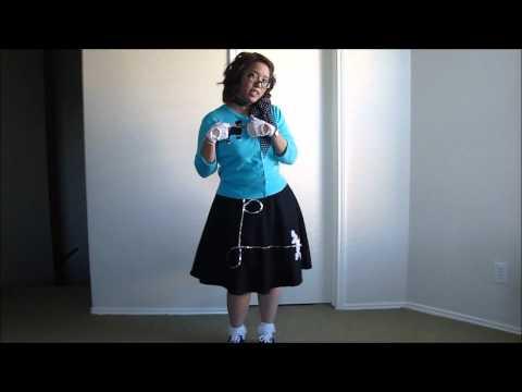 My Halloween Costume-  1950s Sock Hop- Poodle Skirt Girl