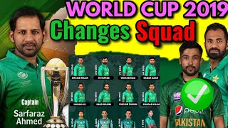 ICC Wprld Cup 2019 | Changes in Pakistan World Cup Squad 2019 | Wahab Riaz, Mohammad Amir Back