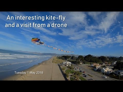 An interesting kite-fly and a visit from a drone