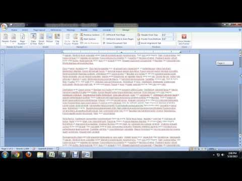 How to Get Page One on Page Two for Microsoft Word : Tech Niche