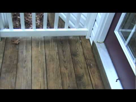 how to clean and stain a deck   during