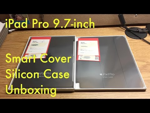 iPad Pro 9.7-inch | Apple Smart Cover and Apple Silicon Case Unboxing and Review