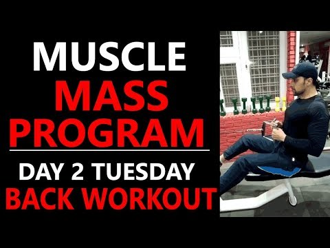 FULL BACK WORKOUT FOR MASS GAIN/ SIZE GAIN WORKOUT PROGRAM