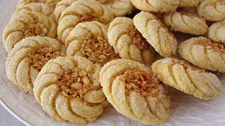 حلويات العيد/حلوى اكثر من رائعة راقية اقتصادية بدون لوز تذوب في الفم بطريقة سهلة جدا ومبسطة ***
