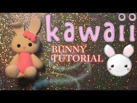 HOW TO MAKE KAWAII BUNNY TUTORIAL  | CLAY CRAFT  DIY | CLAY FIGURE | Cup n Cakes Gourmet