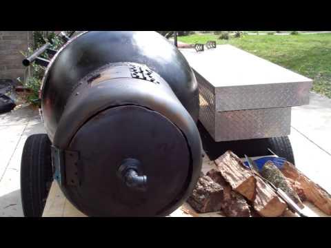 Homemade 250 Gallon Offset Smoker