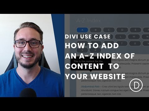 How to Create an A-Z Index of Content with Tooltips for your Website with Divi