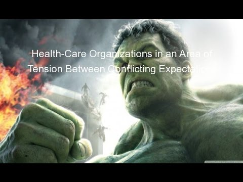 Health-Care Organizations in an Area of Tension Between Conflicting Expectations