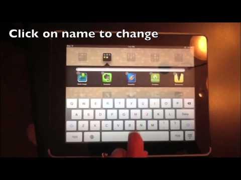 iPad - Change Folder Name