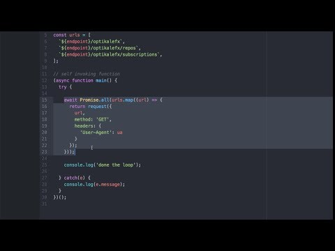 Async Await in Node JS or ES6 with Loops & Github API