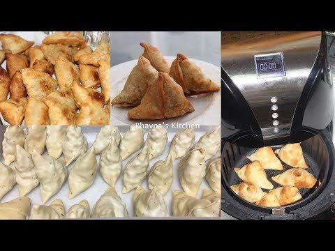 Bulk Samosa Making with Ease Video Recipe | Air Fryer Baked Bhavna's Kitchen