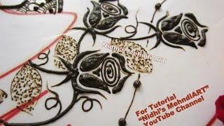 Rose Henna Design Without Pressure And Release Technique Pakfiles Com
