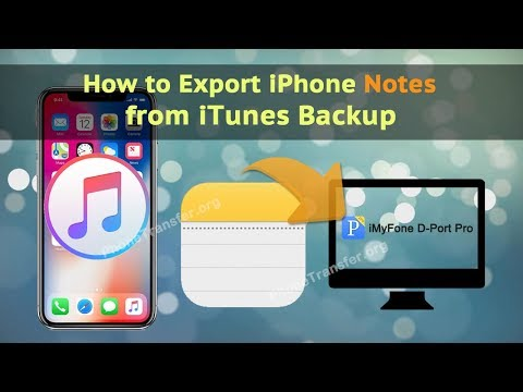 How to Export iPhone Notes from iTunes Backup