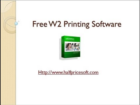 Free W2 Printing Software