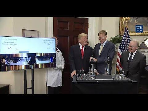 President Trump Makes an Announcement Regarding a Pharmaceutical Glass Packaging Initiative