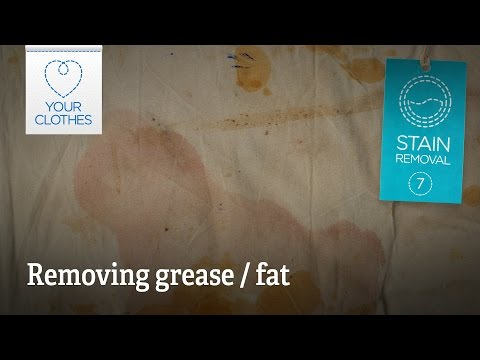Stain removal: how to remove grease fat from clothes