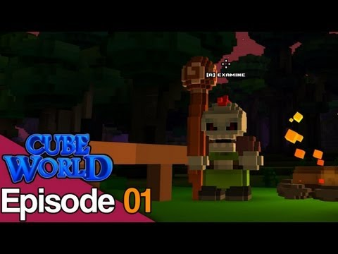 Cube World Let's Play - Slico The Mighty Mage - #1
