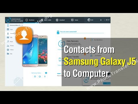 How to Backup Contacts from Samsung Galaxy J5 to Computer