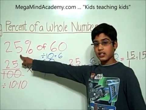 Finding Percent of a Whole Number