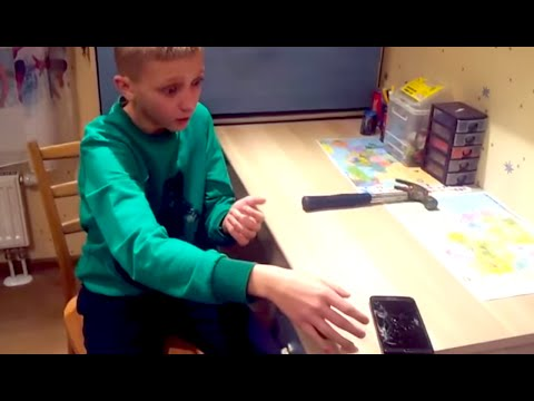 Idiot Kid Breaks Phone Like An Idiot   What's Trending Now