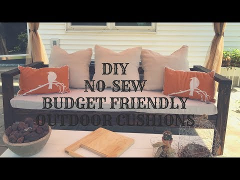 DIY NO-SEW BUDGET FRIENDLY OUTDOOR CUSHIONS