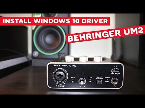 Behringer UM2 Setup Driver on Windows 10 [Step by Step]