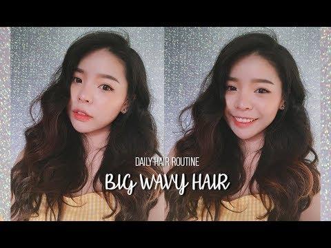 BIG WAVY HAIR TUTORIAL - Updated Hair Routine (With Subs)   Erna Limdaugh