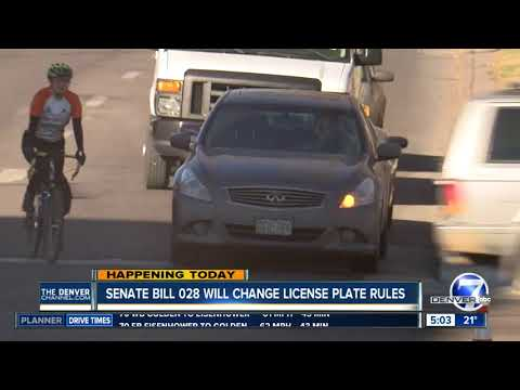 Colorado lawmakers voting on front license plate laws