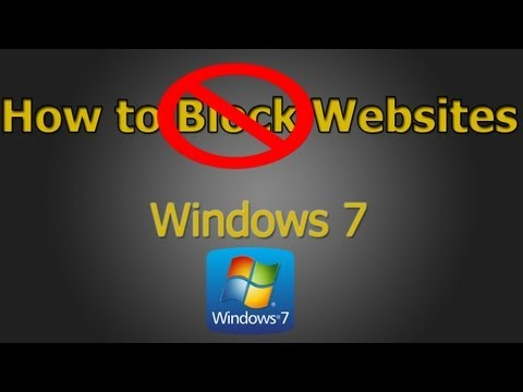 How to Block/Unblock Websites on Windows 7 and 8 (HD)