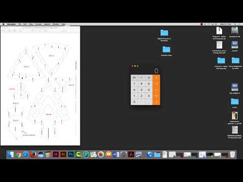 Pop up card  - Grid structure and building elements using Illustrator