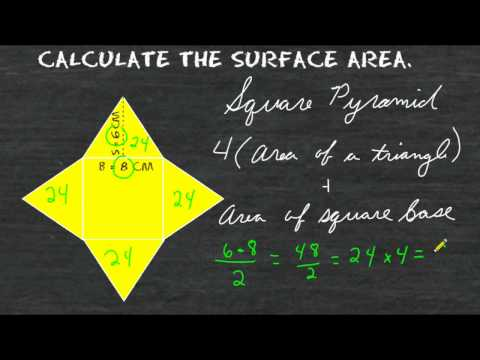 Surface Area Of A Square Pyramid Net