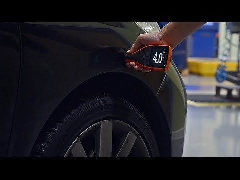 How to measure vehicle paint thickness using an Elcometer 311 Automotive Paint Meter