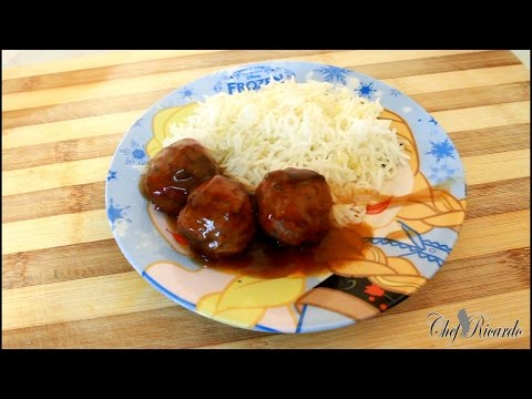 20 Minutes Meat Balls Recipe At Home Served With Rice And Gravy (Jamaican Chef)