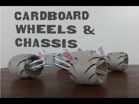 How To Make Cardboard Wheels, Chassis with Suspension and Brakes(1 of 2)