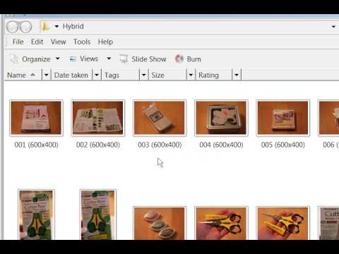 Windows Live Photo Gallery - Resize and Rename