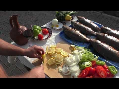 ШАШЛЫК из Рыбы. РЫБА на Мангале в СЕТКЕ по-Домашнему