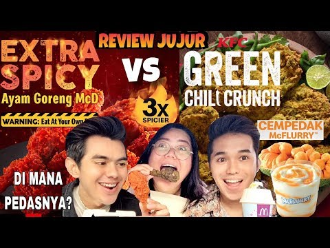 Xxx Mp4 REVIEW JUJUR AYAM MCD 3X SPICIER VS AYAM KFC GREEN CHILI CRUNCH MC FLURRY CEMPEDAK 3gp Sex