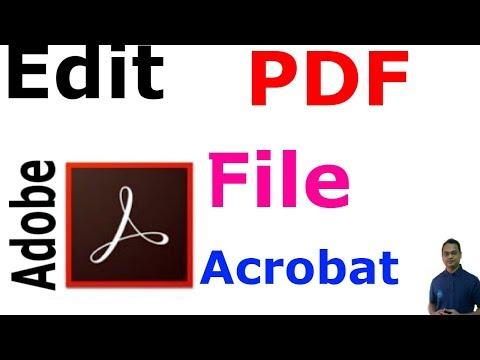 How to Easily Edit a PDF file using Adobe Acrobat Pro 9/10/11 !!