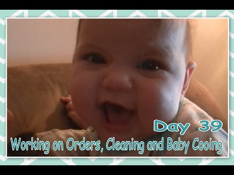 Working on Orders, Cleaning and Baby Cooing - Daily Vlogging (Feb 8, 2017)