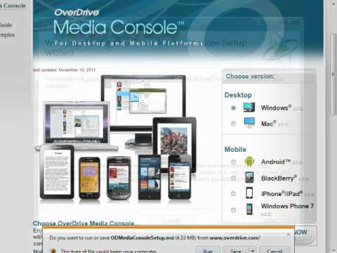 Install Overdrive Media Console (Windows)