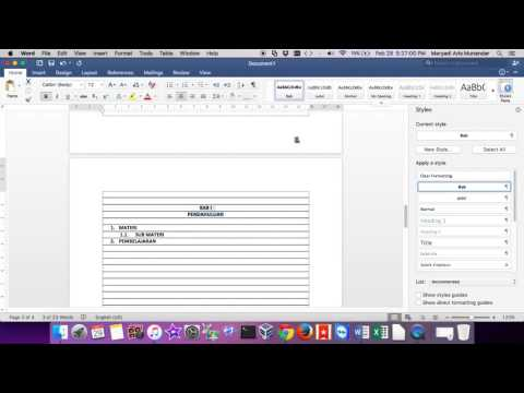 Create Automatic Table Of Content On Microsoft Word 2007/2010/2013/2016 or MAC