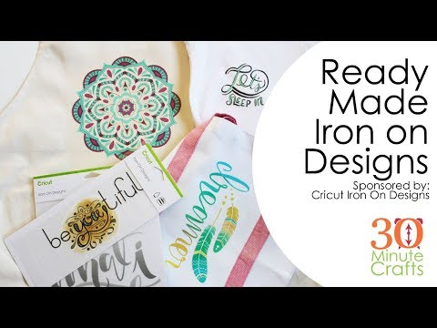 Fast and Easy Cricut Iron On Designs!