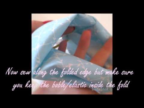 Sewing tutorial on scrunchie!