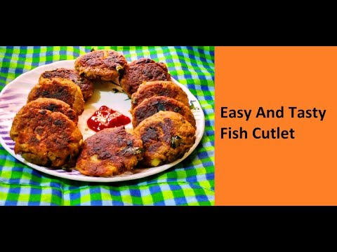 Easy And Tasty Fish Cutlet / No - 252